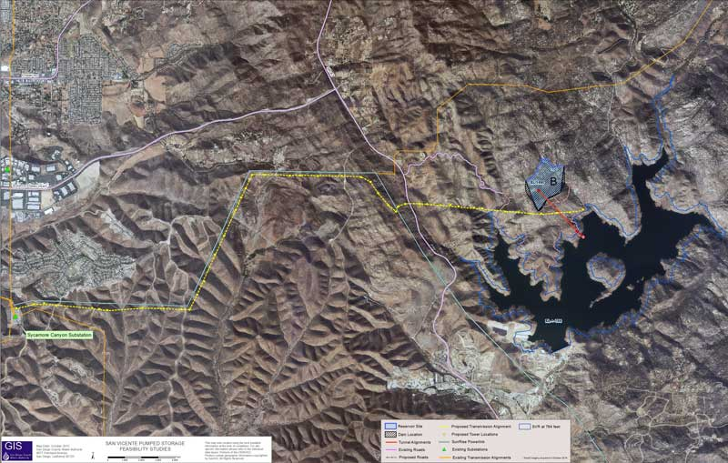 San Vicente Pumped Storage Map
